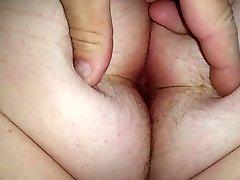 wifes big white hairy arsehole & ass cheeks