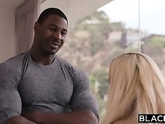 BLACKED Sugar Baby Fucks BBC While Dad Is Out