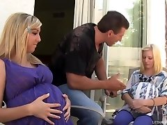 Hot Blond Teens Callie And Elaina Get Preggers