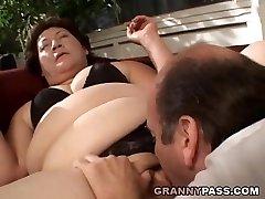 Bbw Grannie Gets Her Fat Pussy Stuffed