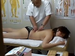 Medical spycam massage vid starring a plump Asian wearing black panties