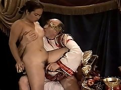 Asian Young Girl Casting made by Elderly & Fat Grandpa