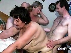 Nasty mom loves lesbian fun in sofa