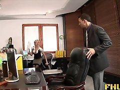 Fhuta - Caught with finger in muff, boned by the boss