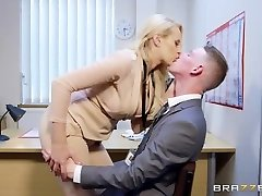 Brazzers - Super Hot Big Tit Boss Wants Some Big Wood