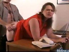 German BBW Anal Creampie