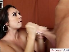 Huge-boobed girlfriend Holly West 69ing