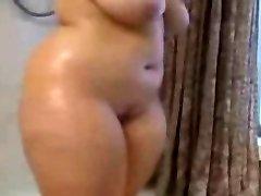 Fat BBW Ex Girlfriend taking a Hot shower, uber-cute Titties