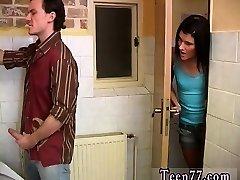 Teen homoemo boy eat spunk Debbie poked in public toilet
