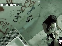 PureXXXFilms Horny Brunette penetrated hard in public wc