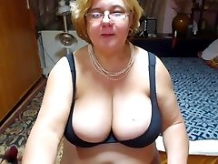 Mature with ample tits