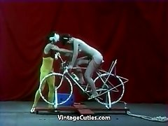 Beautiful Dame is Riding a Intercourse-bike
