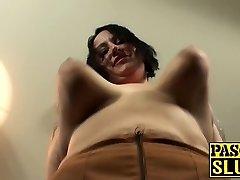 Tattooed Bbw fat ass milf slut gets her meat crevasses stuffed
