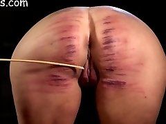 Girls ass aggressively caned