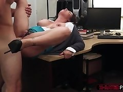 Fat bumpers and handsome MILF gets her tight pussy hammered by Shawn