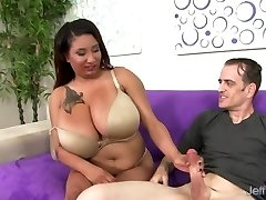 Chubby Danny Lynn Shows Off Her Fat Tits and Gets Her Pussy Pummeled