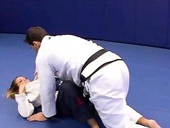 Luxurious Megan Fenox seduces her wrestling coach