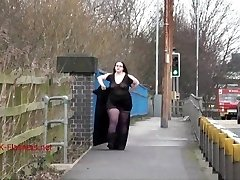 Fat Emmas public nudity and fledgling bbw showing outdoors with brunette exh