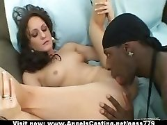 Adorable superb flexible black-haired babe showing tits and pussy