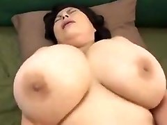 Japanese Mature with huge udders