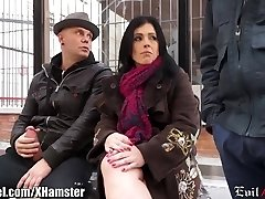 Spanish Milf Picked up in Public and Double Penetration'd