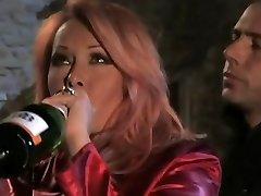 Inebriated redhead Italian Milf having sex by candlelight
