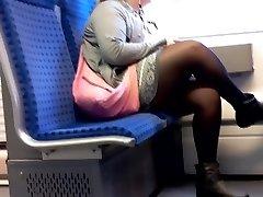 BBW Dame with Nylon legs candid