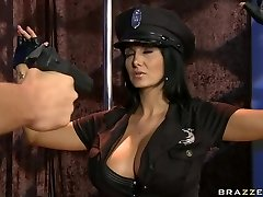 Big-titted police officer Ava Addams craving for hard stick