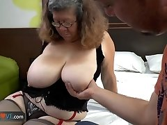 AGEDLOVE - Mexican grandma Brenda seducing water supplier