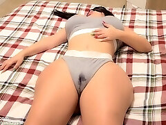 Stepbros hard cock wakes up horny Teen Stepsister after seeing her Raw pussy