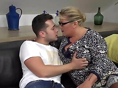 Desperate mommy seduce and boink lucky son