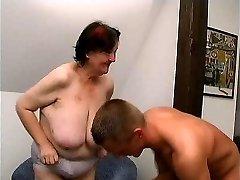 young guy fucks 70 yo gross yam-sized granny oma