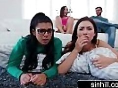 3 Super-steamy Teens Share One Successful Lollipop - Melissa Moore, Abella Danger, Gina Valentina