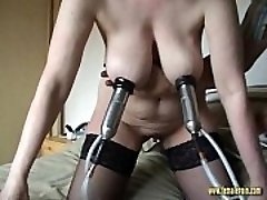 Crazy Mature Masturbating Machine