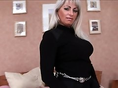 Mature pussy is poked in every fuck hole