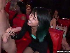 Young Asian Woman deep-throats Stripper