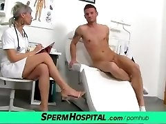 CFNM penis medical exam with mind-blowing Czech MILF physician Beate