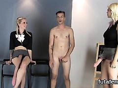 Teenies nail boyfriends anus with big rope dildos and e