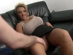 blonde cougar with big natural tits shaved pussy plow