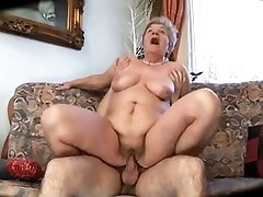 Ugly mom with flabby assets & tits & dude