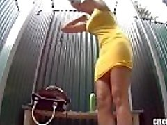 Czech Pool Amazing Teenager with Firm Funbags Shower Voyeur