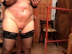 Nailing the slave from behinde