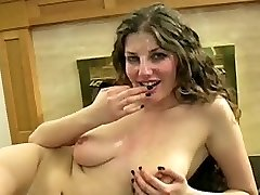 Pretty big tit whore bukkake
