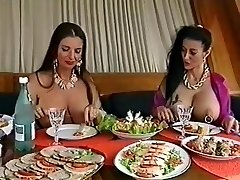 Two busty pierced broads having fun