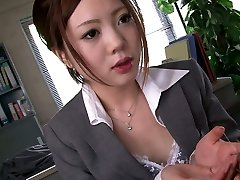 Four ultra-kinky fellows hatch fuck one shy Asian secretary in the office hard