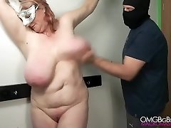 Slapping my sub's big breast until she comes