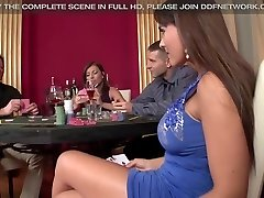 2 casino Prostitutes get Double Penetrated and Gag on bone