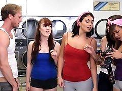 BFFS - college women fuck creepy boy sniffing panties