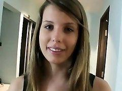 Big boobs brunette teen girl Hanna Heartley cum swallows