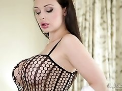 Magnificent mommy Aletta Ocean in hot draining solo compilation